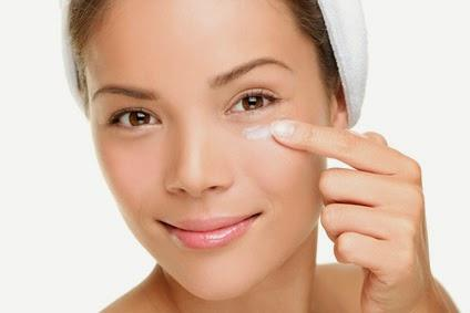 Woman Caring For Skin